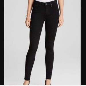 PAIGE Hoxton Ultra Skinny Black Jeans Size 28
